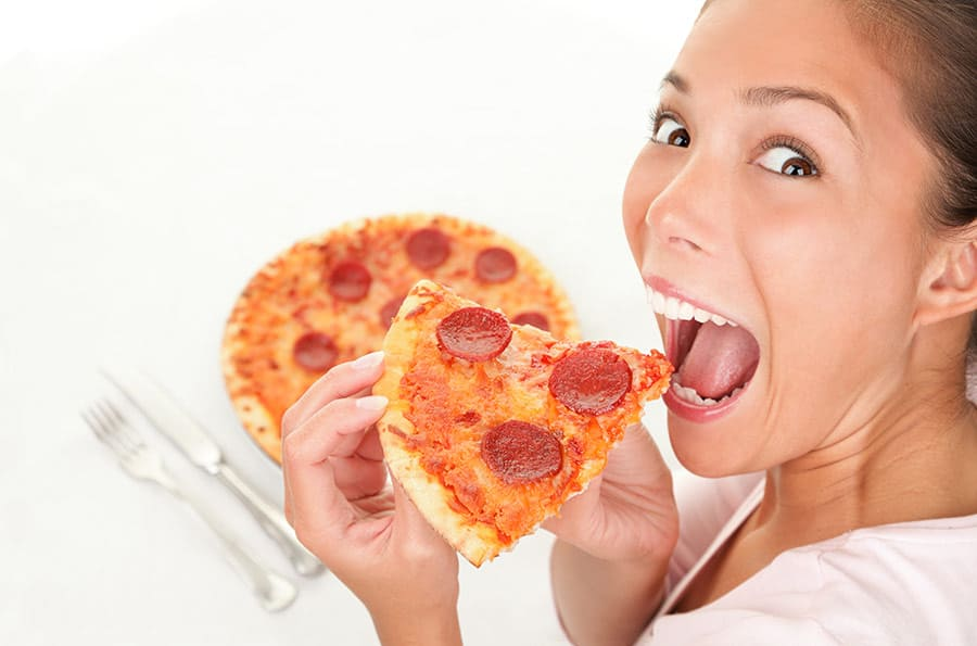 Eating pizza alone is... crazy.